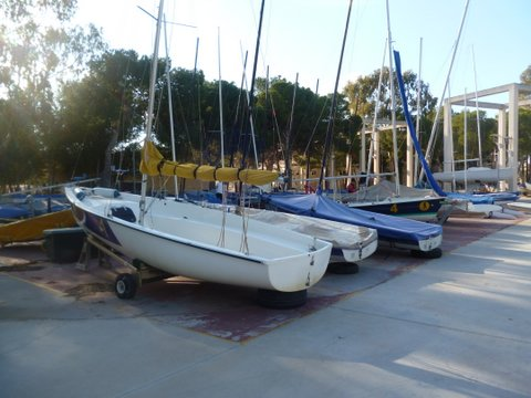 Shoestring Dinghies in CTD Boatyard Feb 2014